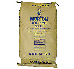 Iodized Table Salt (Morton) - 25 Lb Iodized Table Salt-Morton: GR