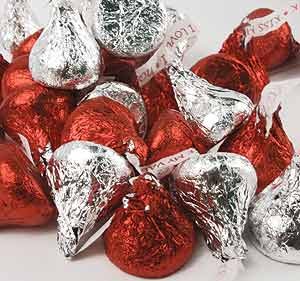 Hershey Kisses Red Silver & Pink 25Lb Hershey Kisses Rd,Sil,Pnk: GR