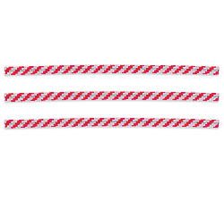 "4"" Bag Ties Red/White (Candy Stripe) - 2000/4"" Bag Ties Candy Stripe: GR"