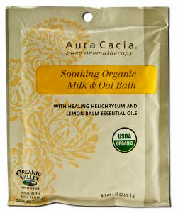 Soothing Organic Milk & Oat Bath, Helichrysum & Lemon Balm 1.75 oz packet: K