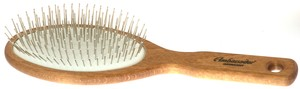 Wooden Pneumatic Hairbrush Large Oval, Wooden with Steel Pins: K