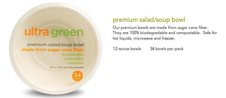Bowl All Purpose 16.9 oz, 34 count, made from 100% sugarcane fiber: K