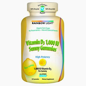 Vitamin D 1.000 IU Sunny Gummies 50 count: K