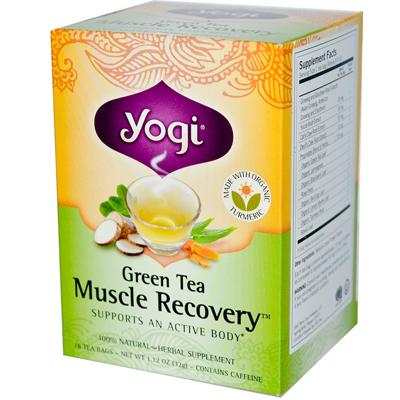 Yogi Green Tea Muscle Recovery 16 t-bag box: C