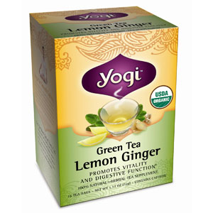 Green Tea Lemon Ginger* 16 t-bag box: C