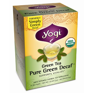 Pure Green Tea Decaf Cert. Organic 16 tea bags: C