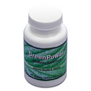 GreenPower Blend Superfood Supplement Cert. Organic 100 vegetarian capsules: C