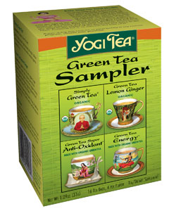 Green Tea Sampler 16 tea bags: C
