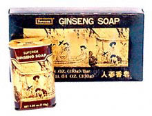 Ginseng Traditional Chinese Bar Soap with Vegetable Base Gift Box 3/3 oz bars: C