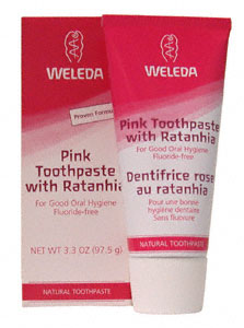 Pink Toothpaste with Ratanhia 3.3 oz: C