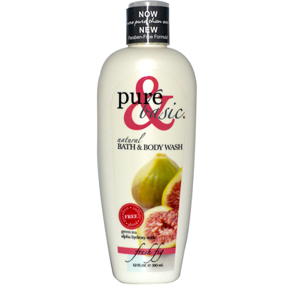 Pure and Basic Natural Bath and Body Wash Fresh Fig - 12 fl oz: HF