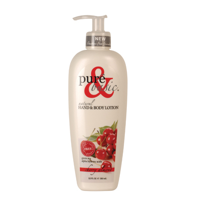 Pure and Basic Natural Bath And Body Lotion Cherry Almond - 12 fl oz: HF