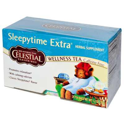 Celestial Seasonings Sleepytime Herbal Tea Caffeine Free - 20 Tea Bags - Case of 6: HF