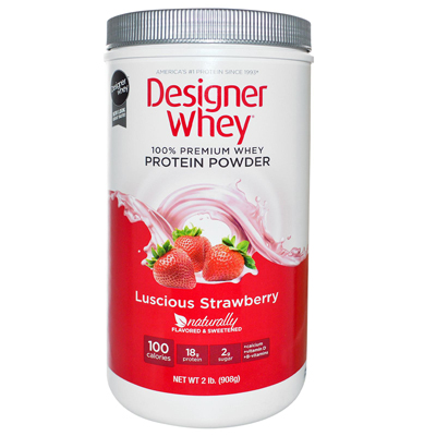 Designer Whey Protein Powder Strawberry - 2 lbs: HF