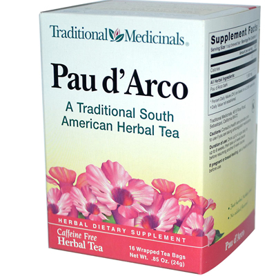 Traditional Medicinals Pau d'Arco Herbal Tea - 16 Tea Bags - Case of 6: HF