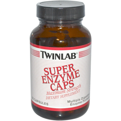 Twinlab Super Enzyme Caps - 50 Capsules: HF