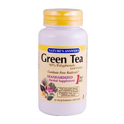 Nature's Answer Green Tea Leaf Extract - 30 Vegetarian Capsules: HF