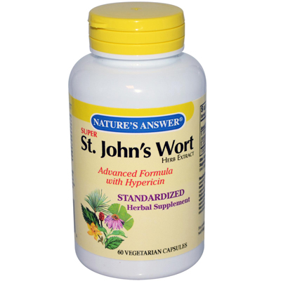 Nature's Answer Super St John's Wort Herb Extract - 60 Vegetarian Capsules: HF