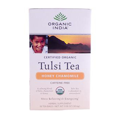 Organic India Tulsi Tea Honey Chamomile - 18 Tea Bags - Case of 6: HF