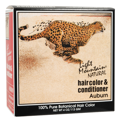 Light Mountain Natural Hair Color and Conditioner Auburn - 4 fl oz: HF