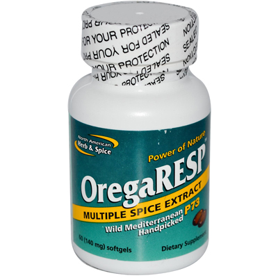 North American Herb and Spice OregaRESP - 60 Softgels: HF