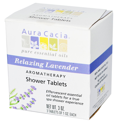 Aura Cacia Aromatherapy Shower Tablets Relaxing Lavender - 3 Tablets: HF
