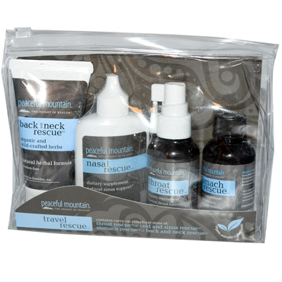 Peaceful Mountain Travel Rescue Kit - 4 Piece Travel Kit : HF