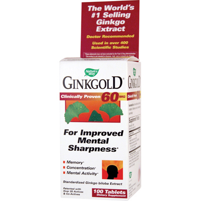 Nature's Way Ginkgold - 100 Tablets: HF