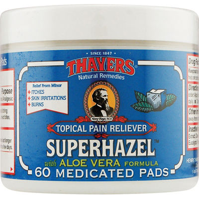 Thayers Astringent Pads - Medicated Witch Hazel - 60 Pads: HF