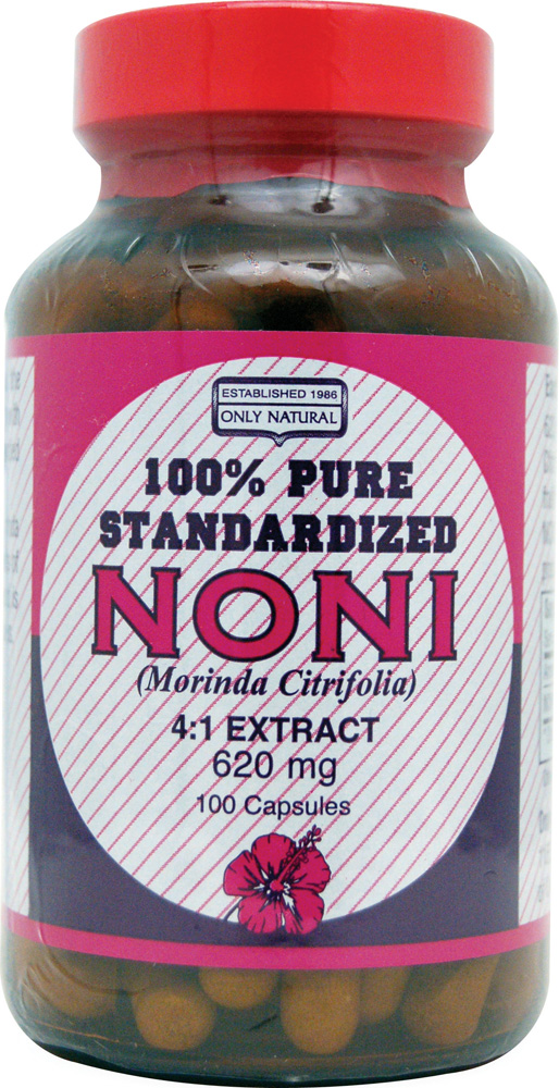 Only Natural Pure Standardized Noni - 620 mg - 100 Capsules: HF
