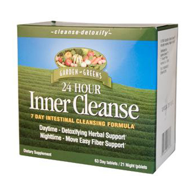 Garden Greens 24 Hour Inner Cleanse 7 Day Intestinal Cleansing Formula: HF