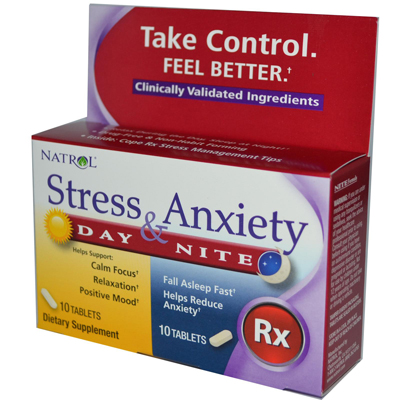 Natrol Stress Anxiety Day and Nite Formula - 20 Tablets: HF