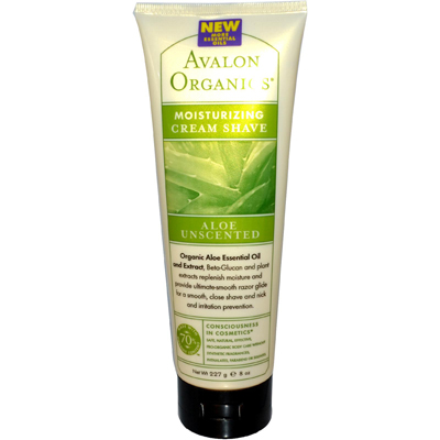 Avalon Organics Moisturizing Cream Shave Aloe Unscented - 8 fl oz: HF