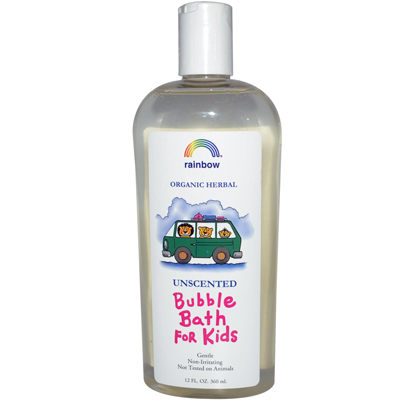 Rainbow Research Organic Herbal Bubble Bath For Kids Unscented - 12 fl oz: HF
