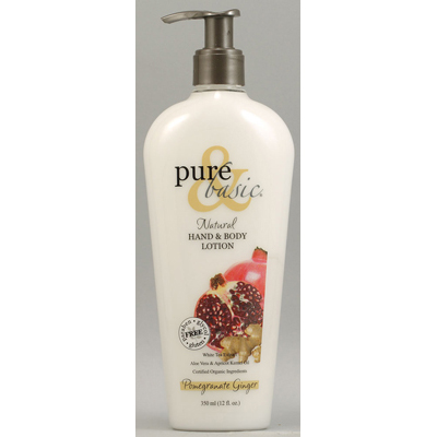 Pure and Basic Natural Bath And Body Lotion Pomegranate Ginger - 12 fl oz: HF