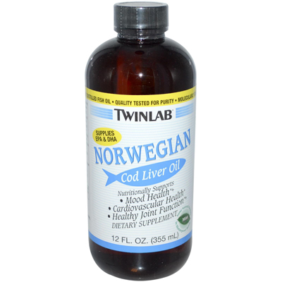 Twinlab Norwegian Cod Liver Oil Mint - 12 fl oz: HF