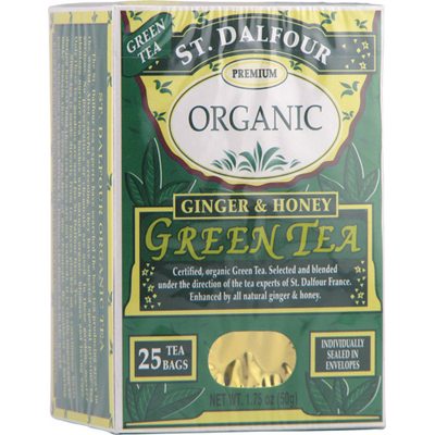 St Dalfour Ginger and Honey Green Tea - 25 Tea Bags: HF