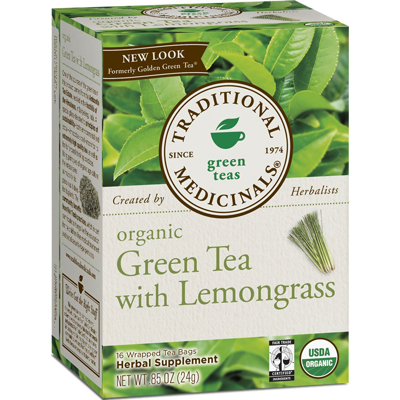Traditional Medicinals Organic Golden Green Tea - 16 Bags: HF