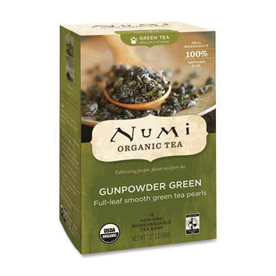 Numi Tea Gunpowder Green Organic Tea - 18 Bags: HF