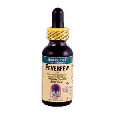 Nature's Answer Feverfew Leaf Alcohol Free - 1 fl oz: HF