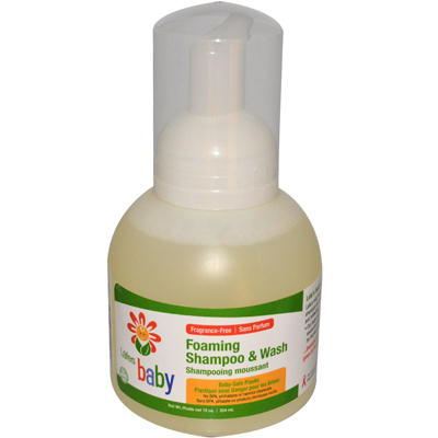 Lafe's Natural and Organic Baby Foaming Shampoo and Wash - 12 fl oz: HF