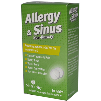 NatraBio Allergy and Sinus Non-Drowsy - 60 Tablets: HF