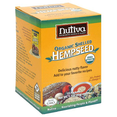 Nutiva Organic Hemp Seed Shelled Packets - Case of 12 - 1.1 oz: HF