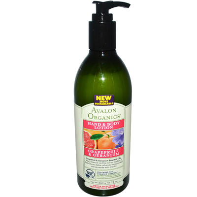 Avalon Organics Hand and Body Lotion Refreshing Grapefruit and Geranium - 12 fl oz: HF