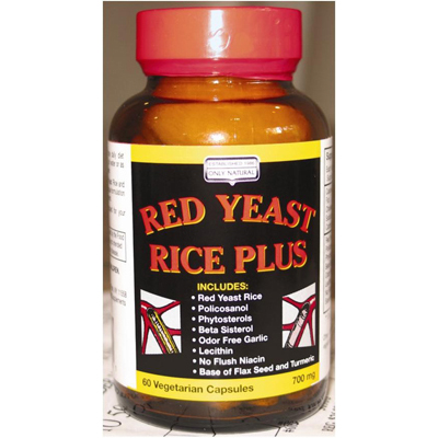 Only Natural Red Yeast Rice Plus - 60 Vcaps: HF