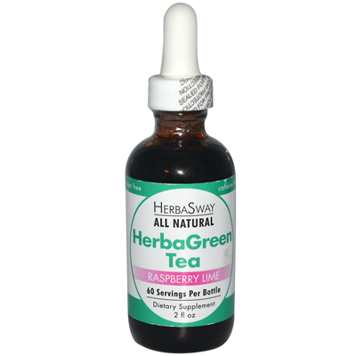 Herbasway Laboratories HerbaGreen Tea Raspberry Lime - 2 fl oz: HF
