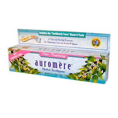 Auromere Herbal Toothpaste Cardamom-Fennel - 4.16 oz - Case of 12: HF