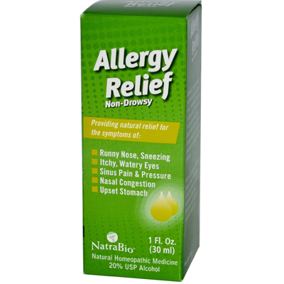 NatraBio Allergy Relief Non-Drowsy - 1 fl oz: HF