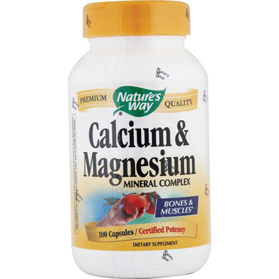 Nature's Way Calcium and Magnesium Mineral Complex - 100 Capsules: HF