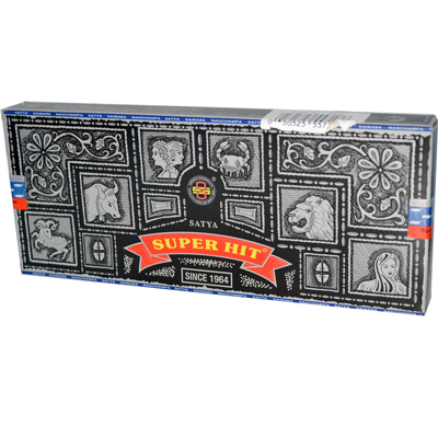 Sai Baba Super Hit Nag Champa Incense - 3.5 oz - Case of 6: HF